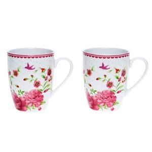 Porcelánový hrnček Pink Rose, 300 ml