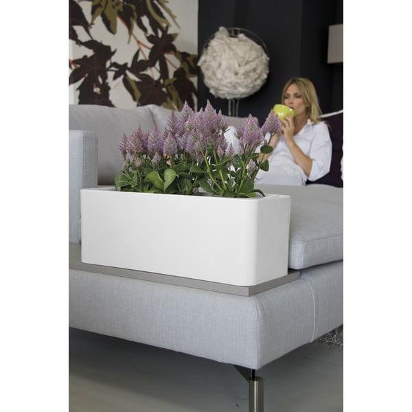 Plastový kvetináč Calypso, biely