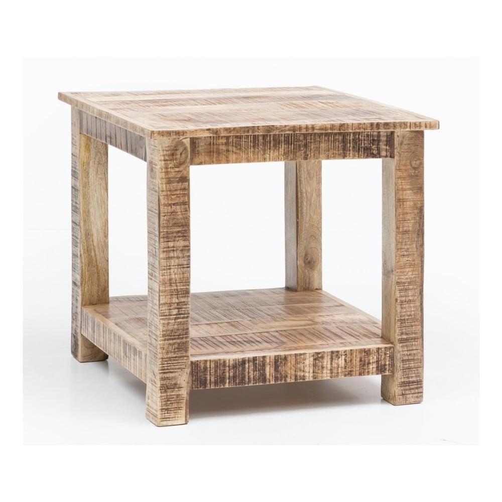 Konferenčný stôl z masívneho mangového dreva Skyport RUSTICA, výška 60 cm