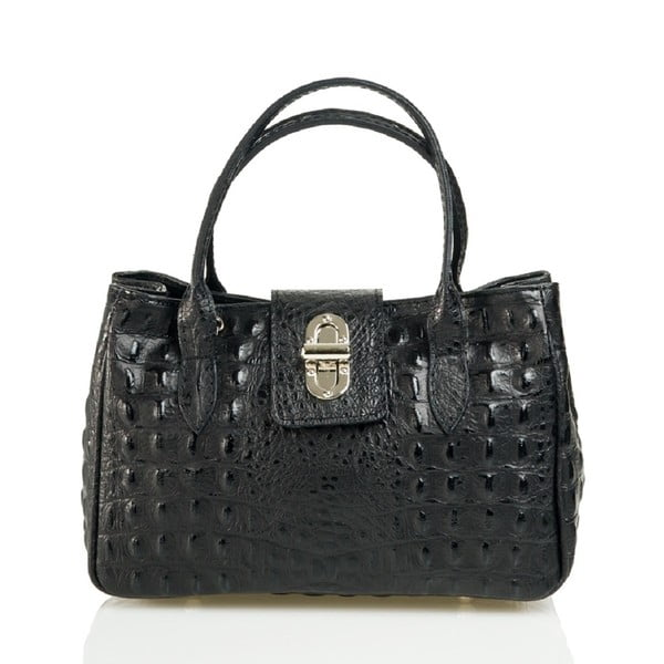 Kožená kabelka Laura, čierna