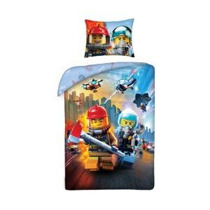 Detské bavlnené obliečky Halantex Lego City II, 140 x 200 cm