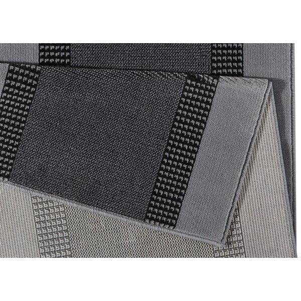 Koberec Basic, 80x250 cm, sivý