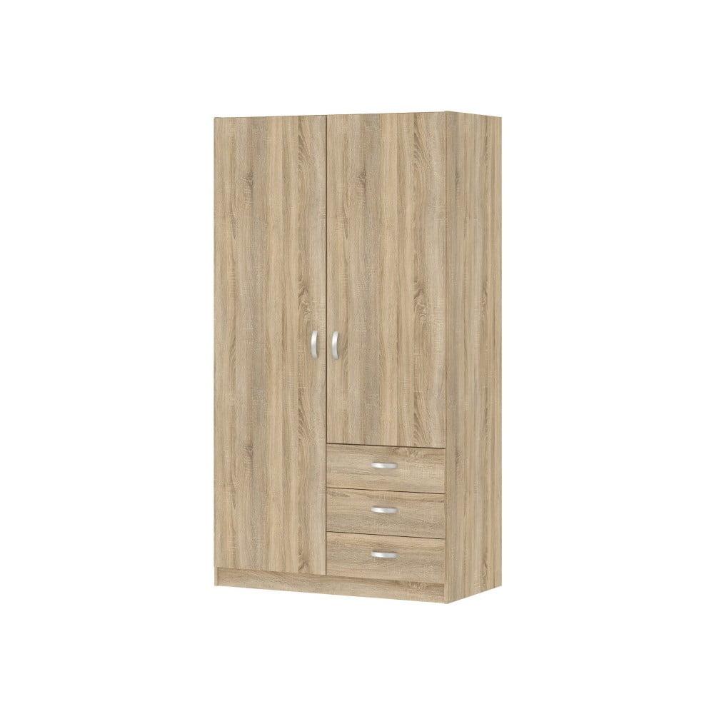 Hnedá šatníková skriňa Evegreen Houso Home, výška 175 cm