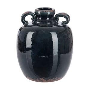Váza Dark Petrol Handle, 25x25x29 cm