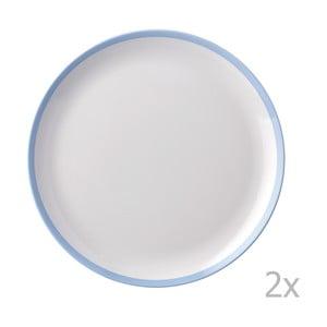 Sada 2 tanierov s modrým okrajom Rosti Mepal Flow, 23 cm