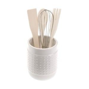 Set 4 bielych kuchynských nástrojov so stojanom Versa Con