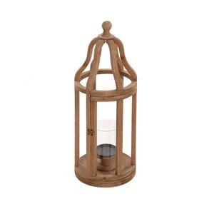 Drevený lampáš Beige, 27x72 cm