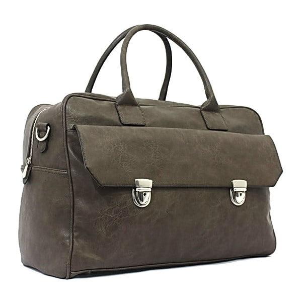 Cestovná taška Bobby Black - Khaki, 45x33 cm
