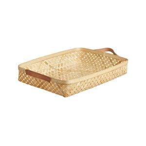 Bambusový úložný košík OYOY Sporta, 6 × 28 cm
