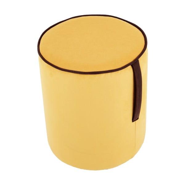 Guľatý puf Pois, žltý