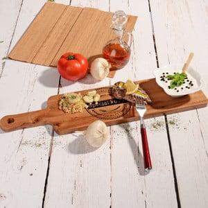 Bambusová doštička na servírovanie s miskou Flop