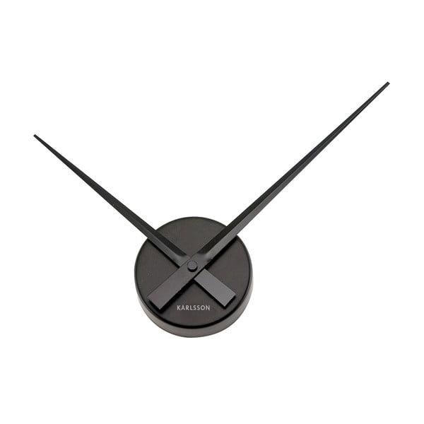 Čierne nástenné hodiny Karlsson Mini