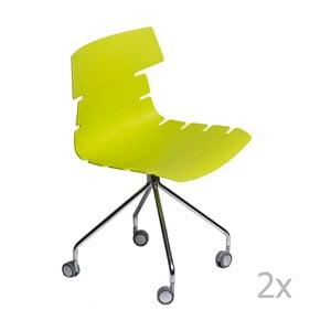 Sada 2 stoličiek D2 Techno Roll, zelené