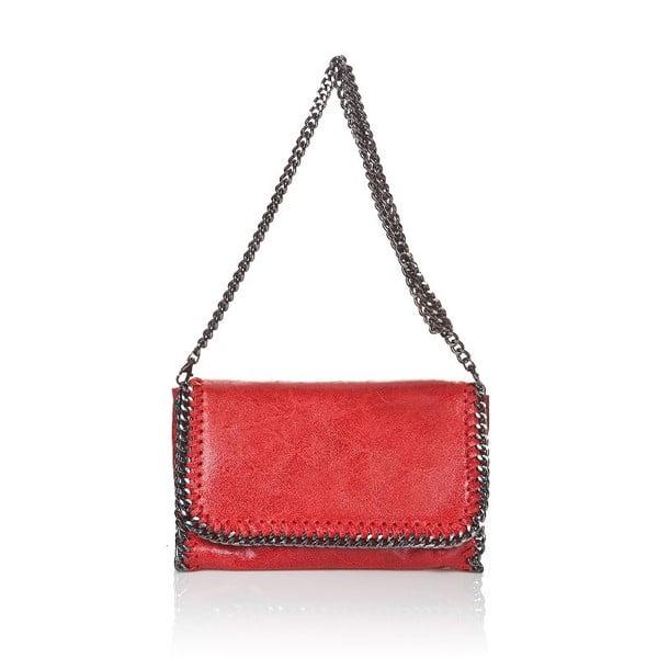 Kožená kabelka Chain Red