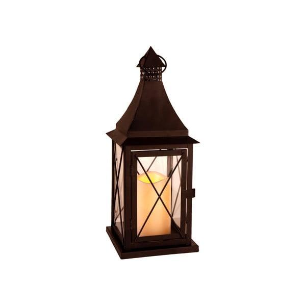 LED lampáš Lantern 37 cm, čierny