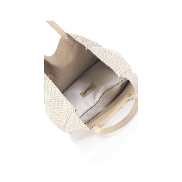Béžová obojstranná kožená kabelka Krole Korrine