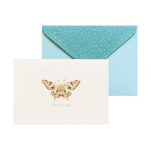 Sada 10 komplimentiek s obálkami Portico Designs FOIL Butterfly