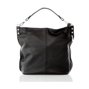 Čierna kožená kabelka Glorious Black Ludy