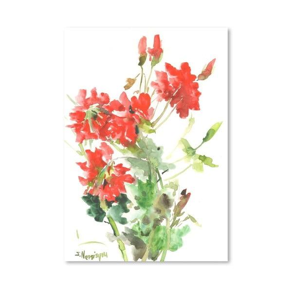 Plagát Geranium in Red od Suren Nersisyan