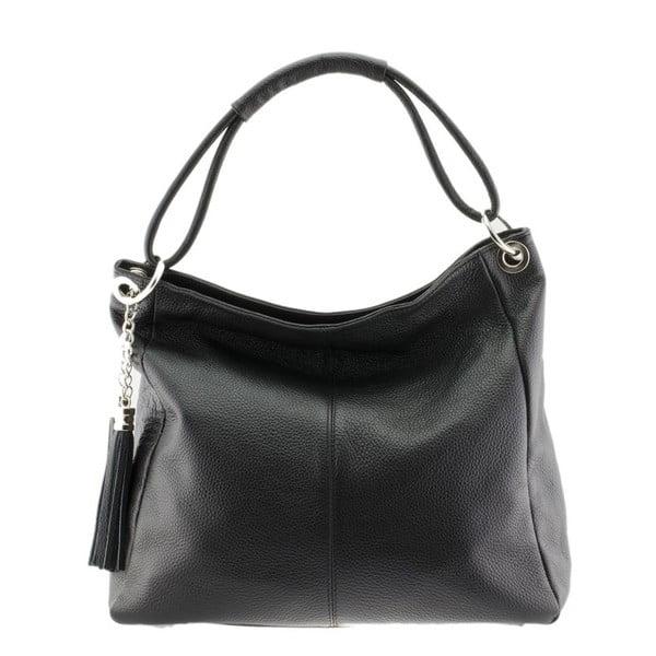 Čierna kožená kabelka Markese Sebastiano
