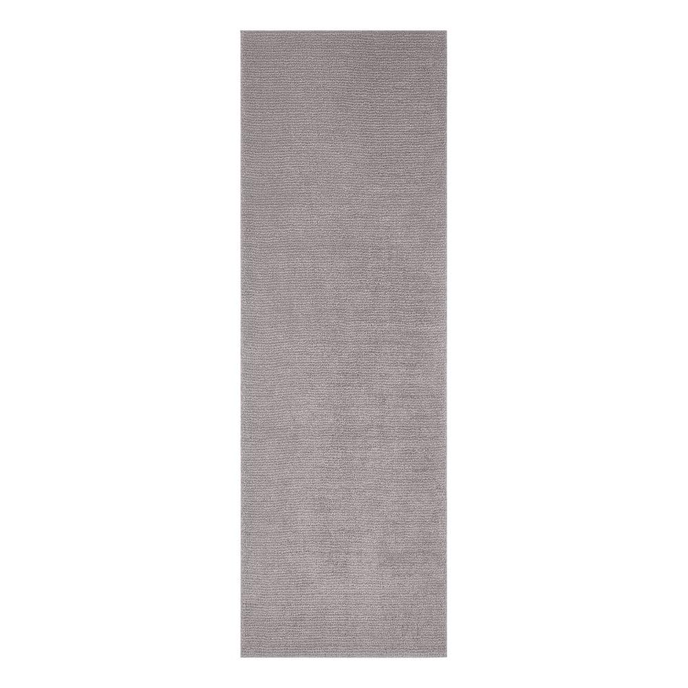 Svetlosivý behúň Mint Rugs Supersoft, 80 x 250 cm