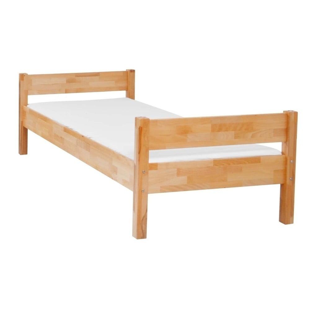 Detská jednolôžková posteľ z masívneho bukového dreva Mobi furniture Mia, 200 × 90 cm