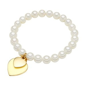 Náramok s bielou perlou⌀8 mm Perldesse Ode, dĺžka 19 cm