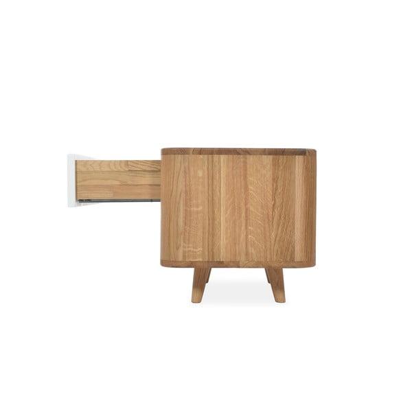 Nočný stolík z dubového dreva Gazzda Ena One, 60 x 42 x 40 cm