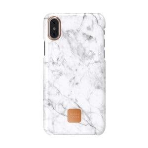 Bielo-sivý kryt na telefón pre iPhone X a XS Happy Plugs Slim