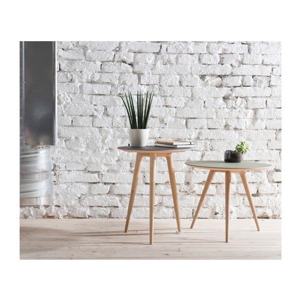 Príručný stolík z dubového dreva s čiernou doskou Gazzda Arp, ⌀ 55 cm