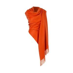 Oranžová kašmírová šatka Hogarth, 190×70 cm