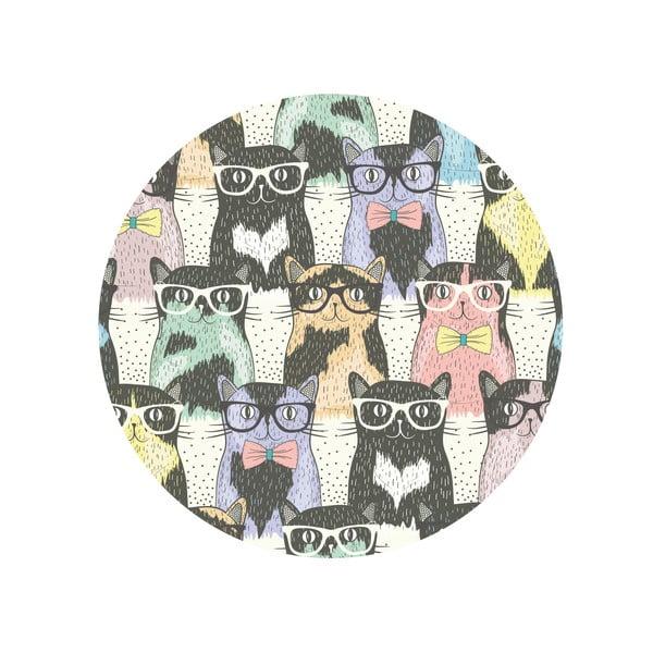 Sada 2 odkladacích stolíkov Cats In Glasses, 35 cm + 49 cm