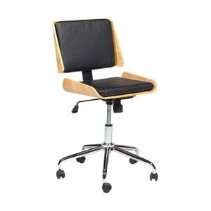 Čierna kancelárska stolička DAN-FORM Denmark Retro