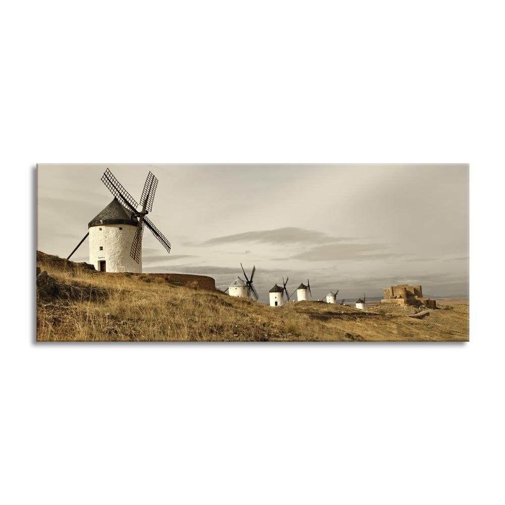 Obraz Styler Canvas Harmony Mlyny, 60 × 150 cm