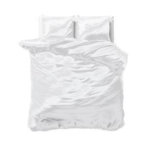 Biele obliečky zo saténového mikroperkálu na dvojlôžko Sleeptime, 240 x 220 cm