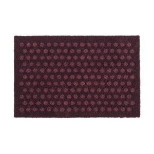 Tmavovínová rohožka Tica Copenhagen Dot, 40 x 60 cm