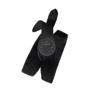 Dámske čierne hodinky s dvojitým remienkom Zadig & Voltaire