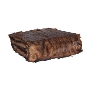 Tmavohnedá prikrývka Clayre & Eef Fur, 130 x 180 cm