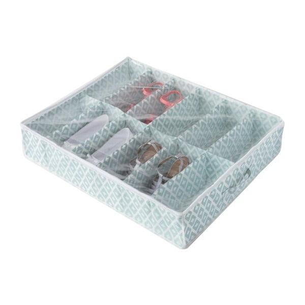 Zelený úložný box na topánky pod posteľ Compactor, dĺžka76cm