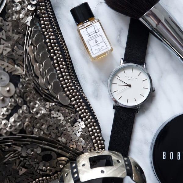 Strieborno-čierne dámske hodinky Rosefield The Gramercy