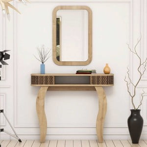Svetlohnedý toaletný stolík Damia