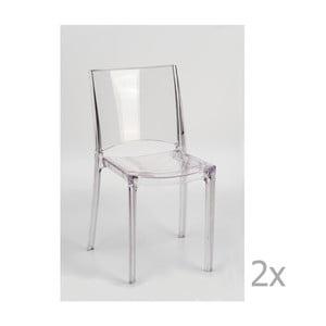 Sada 2 transparentných jedálenských stoličiek Castagnetti Canossa