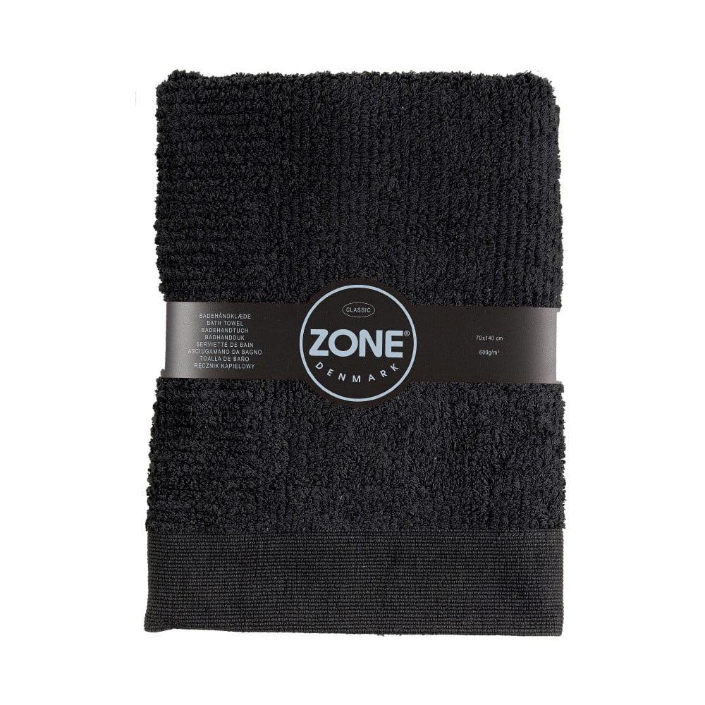 Čierna osuška Zone Classic, 70 x 140 cm