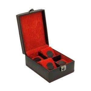 Čierny box na štvoro hodiniek Carbon
