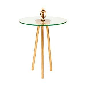 Odkladací stolík s detailmi v zlatej farbe Miloo Home Ovid