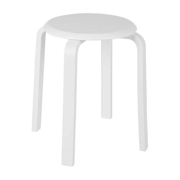 Biela stolička z brezového dreva De Eekhoorn Diede