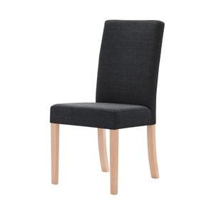 Tmavosivá stolička s hnedými nohami Ted Lapidus Maison Tonka
