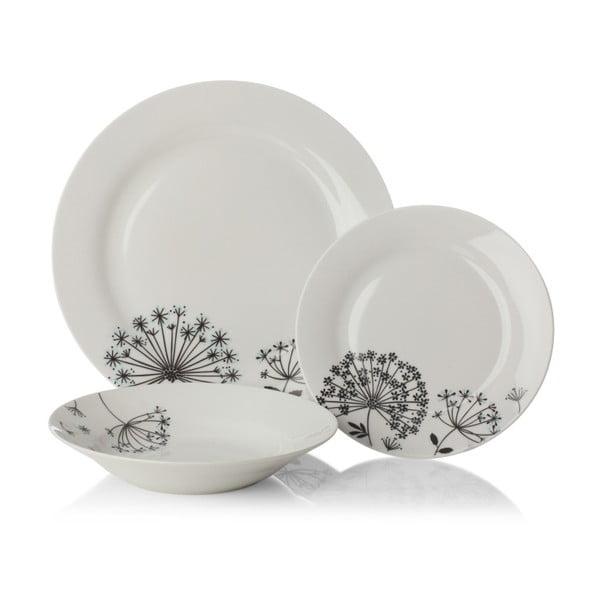 12-dielna porcelánová sada riadu Sabichi Dandelion