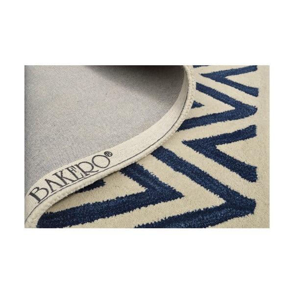 Ručne tuftovaný modrý koberec Ziggy, 153x244 cm