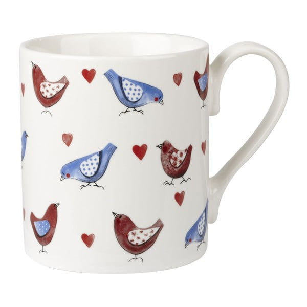 Sada 4 hrnčekov Churchill China Lovebirds larch, 250 ml